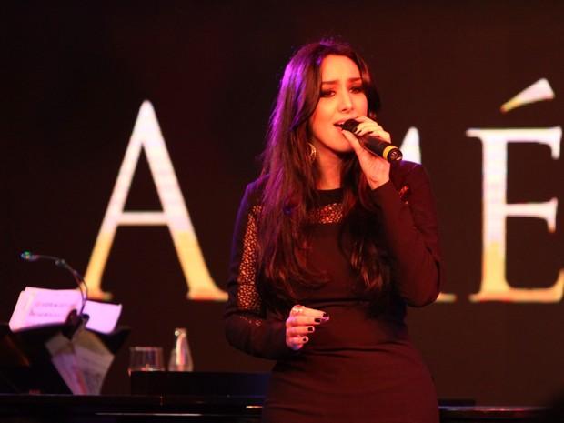 Marina Elali canta em evento no Rio (Foto: Anderson Borde/ Ag. News)
