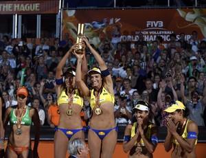 vôlei de praia pódio feminino mundial