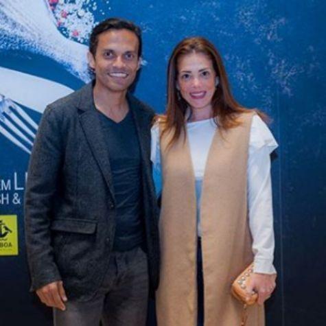 Karla Muga com o marido, Rodrigo Almeida (Foto: Reprodução)