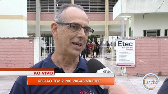 Etecs oferecem 2,3 mil vagas no Vale do Paraíba e região bragantina