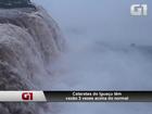Com chuvas, vazão das Cataratas do Iguaçu fica 3 vezes acima do normal