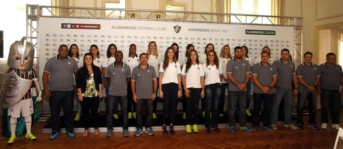 Elenco e comissão técnica do Fluminense para a Superliga 2016/2017 (Foto: Mailson Santana/ Fluminense)