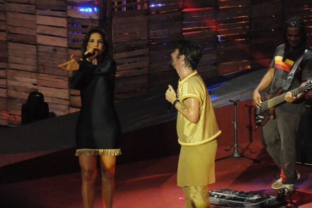 Ivete Sangalo na gravação do DVD de Saulo (Foto: Eli Cruz/Divulgação )