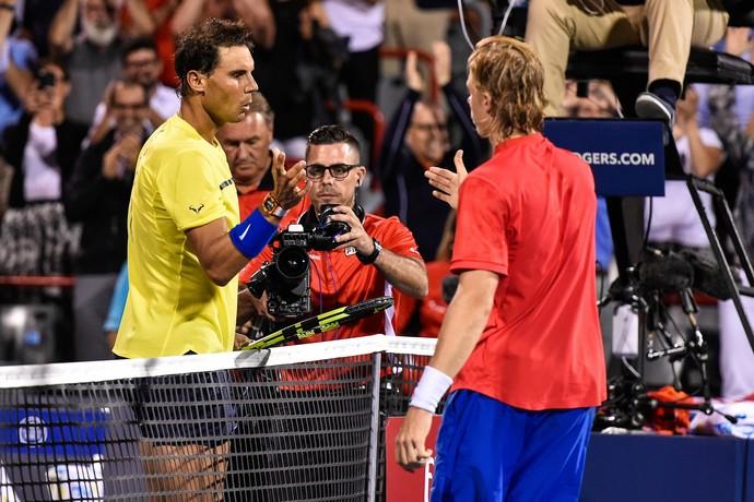 Rafael Nadal Denis Shapovalov (Foto: Minas Panagiotakis/Getty Images)