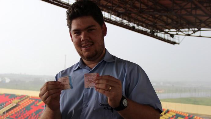 Hégio Roberto, torcedor do Rio Branco Arena da Floresta (Foto: João Paulo Maia)