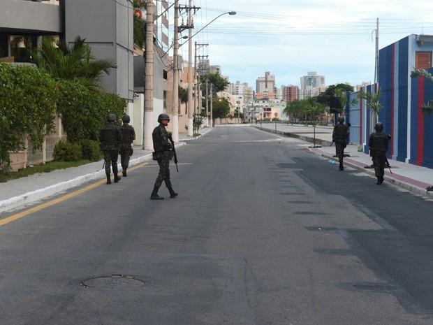 Exército atua nas ruas da Grande Vitória (Foto: Divulgação/ Sesp)