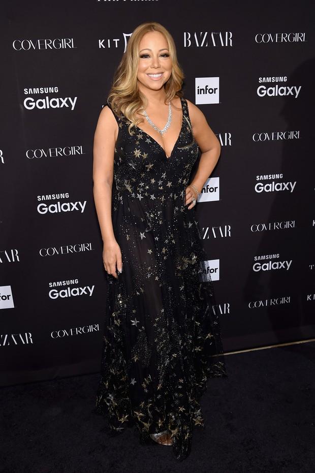 Mariah Carey em festa em Nova York, nos Estados Unidos (Foto: Jamie McCarthy/ Getty Images/ AFP)