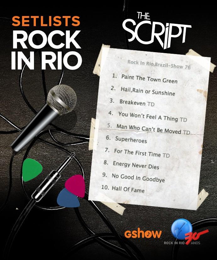 set list script (Foto: Gshow)
