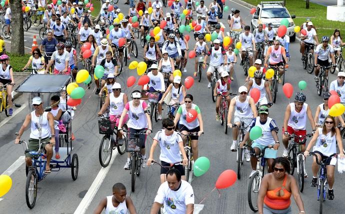 Pedalada sustentável (Foto: Arquivo/A Gazeta)