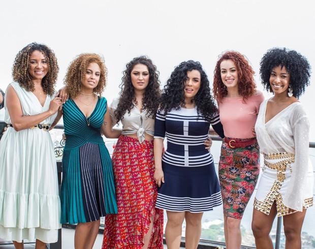 Gill Vianna, Amanda Farah, Duda Fernandes, Luiza Costa, Tarcyla Guitto e Aline Prado (Foto: Lucio Luna/Divulgação)