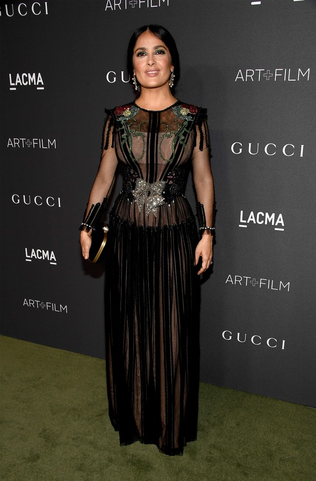 Salma Hayek em evento em Los Angeles, nos Estados Unidos (Foto: Frazer Harrison/ Getty Images/ AFP)