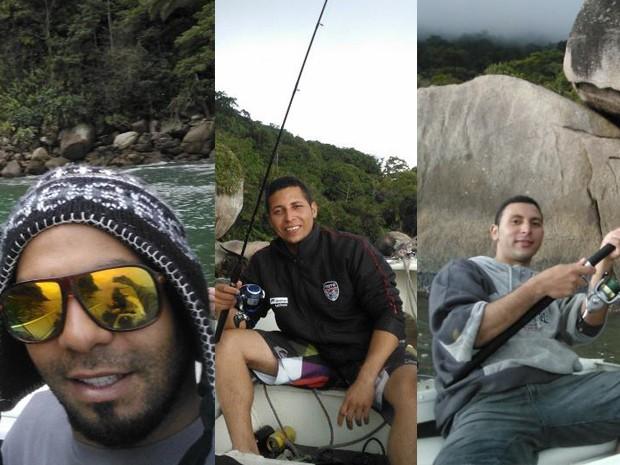 Jovens desapareceram em alto mar durante pescaria (Foto: Arte/G1 Santos)