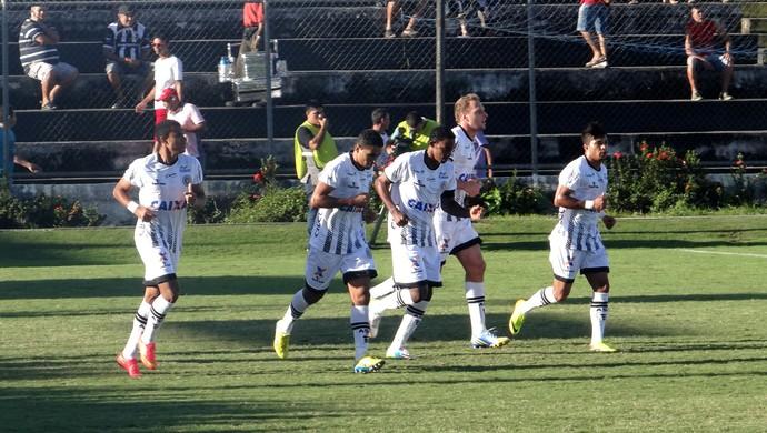 Jogadores do ASA comemoram gol na partida contra o Treze (Foto: Leonardo Freire/GloboEsporte.com)