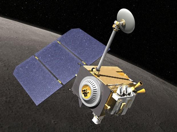 Ilustração mostra como é a sonda lunar LRO (Foto: Nasa)