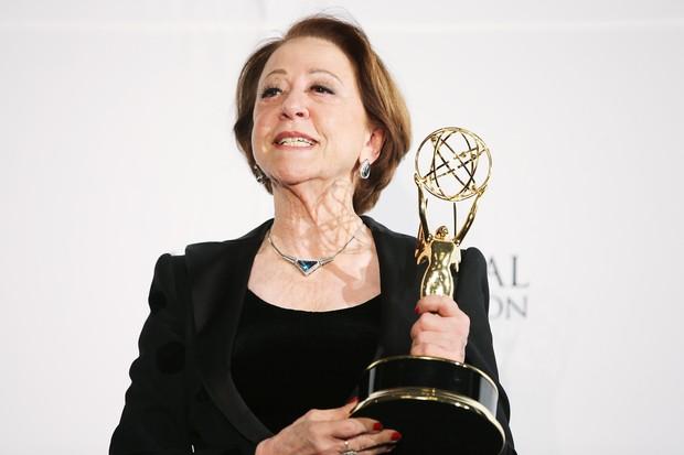 Fernanda Montenegro na 41ª edição do Emmy Internacional em Nova York, nos Estados  (Foto: Neilson Barnard/ Getty Images/ AFP)