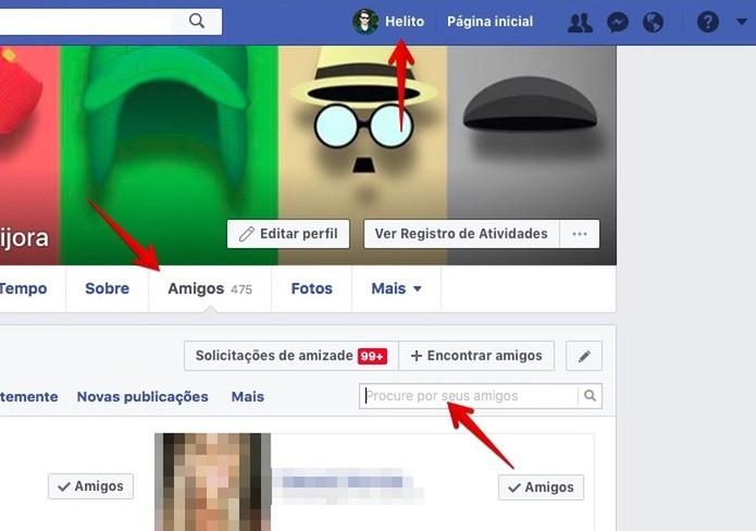 Localize o perfil do amigo que você quer excluir do Facebook (Foto: Reprodução/Helito Bijora)