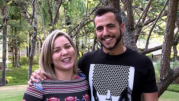 Matheus e Maria Claudia Cacau (Foto: Gshow)