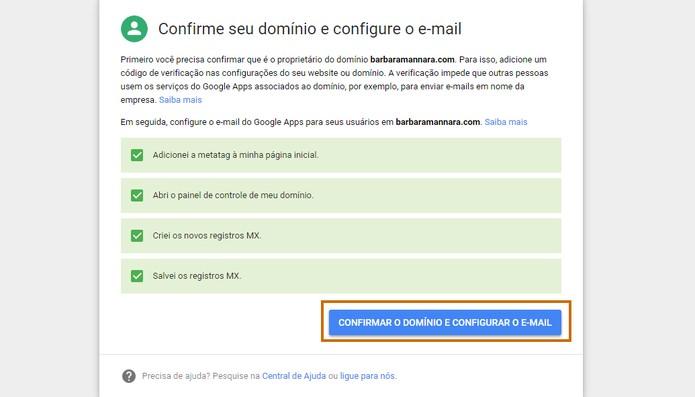 Termine todas as configurações do Gmail e confirme (Foto: Reprodução/Barbara Mannara)