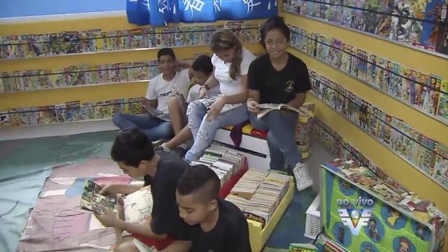 Biblioteca Martins Fontes (Foto: Reprodução/TV Tribuna)