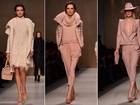 Blumarine apresenta coleção sofisticada e em tons pastel na Semana de Moda de Milão