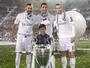 """Em comemoração do título, CR7 inclui filho no trio de ataque do Real: """"BBCC"""""""