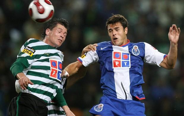 Bruno Moraes em partida contra o Sporting Lisboa (Foto: Reprodução / Site oficial Bruno Moraes)