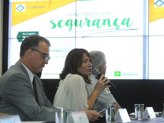 Secretária de segurança pública, Márcia Alencar, durante divulgação do balanço da criminalidade (Foto: Gabriel Jabur/Agência Brasília)