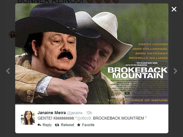 """Meme mistura o filme """"O segredo de brokeback mountain"""" com aerotrem (Foto: Reprodução)"""