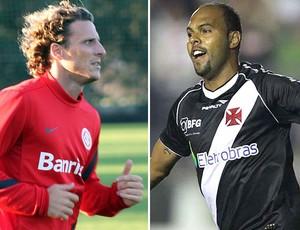 Forlan e Alecsandro, Internacional x Vasco (Foto: Editoria de arte / Globoesporte.com)