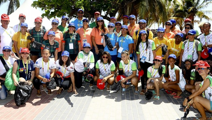 coleta de lixo, Jogos Escolares da Juventude, JEJs (Foto: Wagner Carmo/Exemplus/COB)