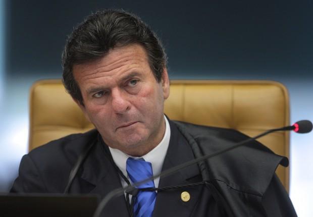 O ministro do Supremo Tribunal Federal (STF), Luiz Fux, durante sessão (Foto: Fabio Rodrigues Pozzebom/Agência Brasil)