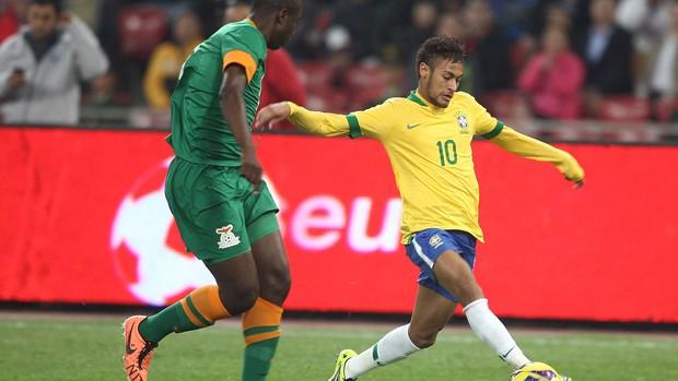 Neymar jogo amistoso Brasil e Zâmbia (Foto: Mowa Press)