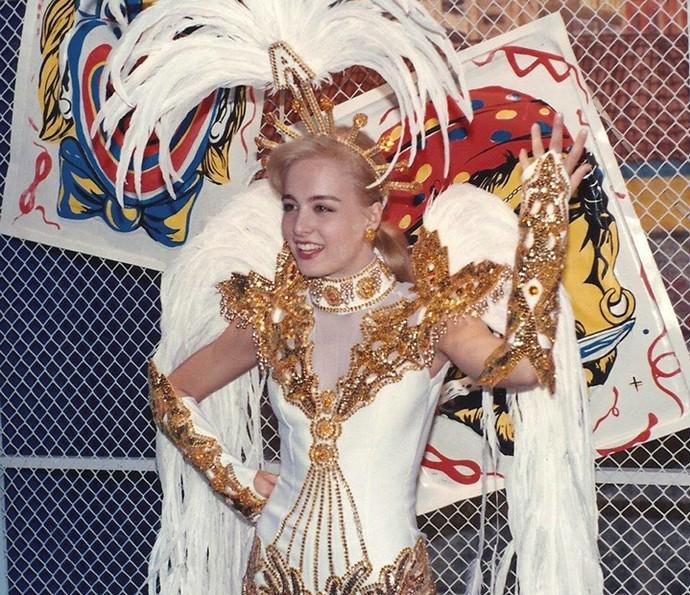 Angélica mostra fantasia em desfile no Carnaval (Foto: Arquivo Pessoal)