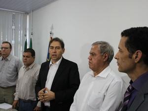 Prefeito de Campo Grande anuncia novos secretários (Foto: Adriel Mattos/G1 MS)