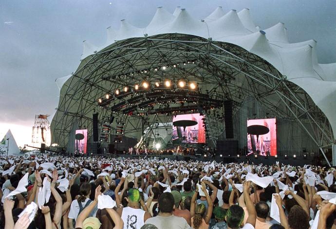 Palco Rock in Rio 2001, cidade do rock (Foto: Wilton Junior / Ag. Estado)