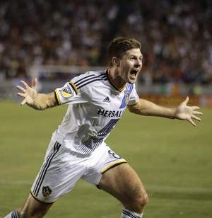 Steven Gerrard Los Angeles Galaxy x San José MSL - AP (Foto: AP)