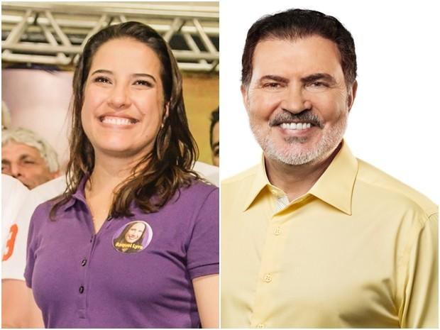 Raquel Lyra e Tony Gel disputam a Prefeitura de Caruaru no 2º turno (Foto: Arte/G1)