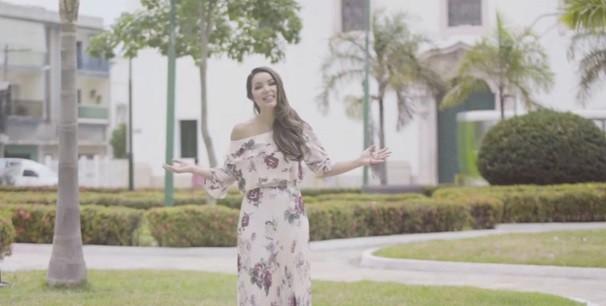 Liah Soares no clipe 'a nossa mãe tem nome'  (Foto: Reprodução/ TV liberal)