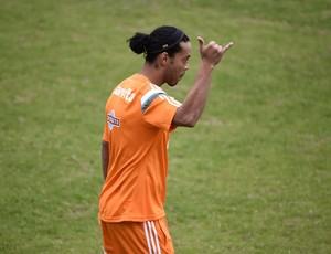 Ronaldinho Gaúcho primeiro treino Flu