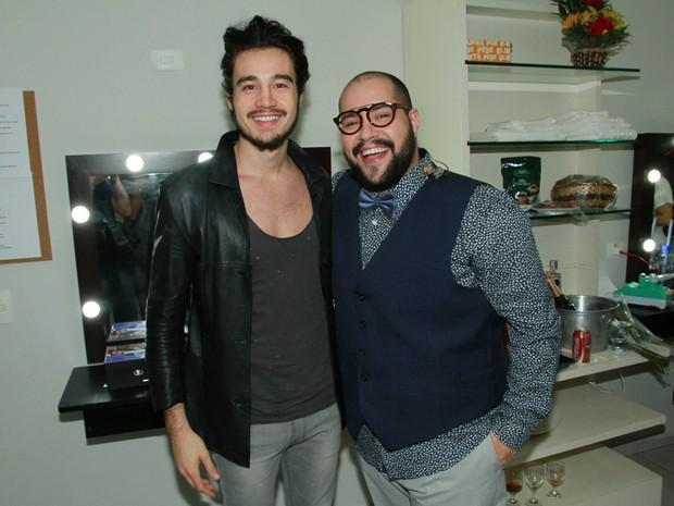 Tiago Iorc e Tiago Abravanel em show em São Paulo (Foto: Amauri Nehn/ Brazil News)