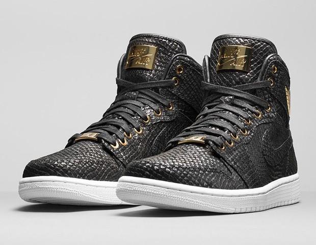 Air Jordan 1 ganha edição de luxo em couro de cobra e ...