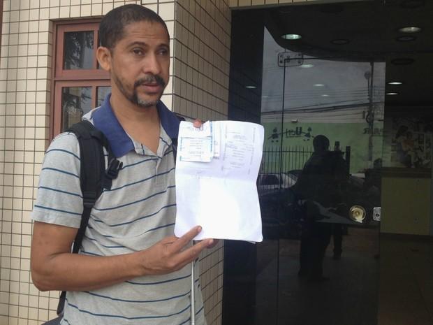 Professor foi vítima de golpe em hospital público do Amapá (Foto: Abinoan Santiago/G1)