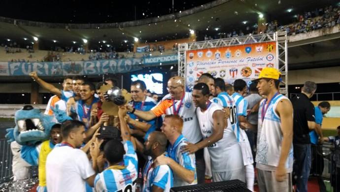 Paysandu conquista o título no último minuto (Foto: Pedro Cruz/GloboEsporte.com)