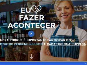 Campanha Eu Amo Fazer Acontecer, do Sebrae, inscreve para capacitações na Paraíba (Foto: Reprodução / Site do Sebrae)