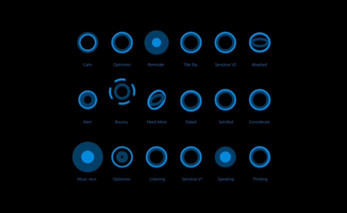Cortana terá ícones contextuais para interagir com usuários (foto: Reprodução/Microsoft)