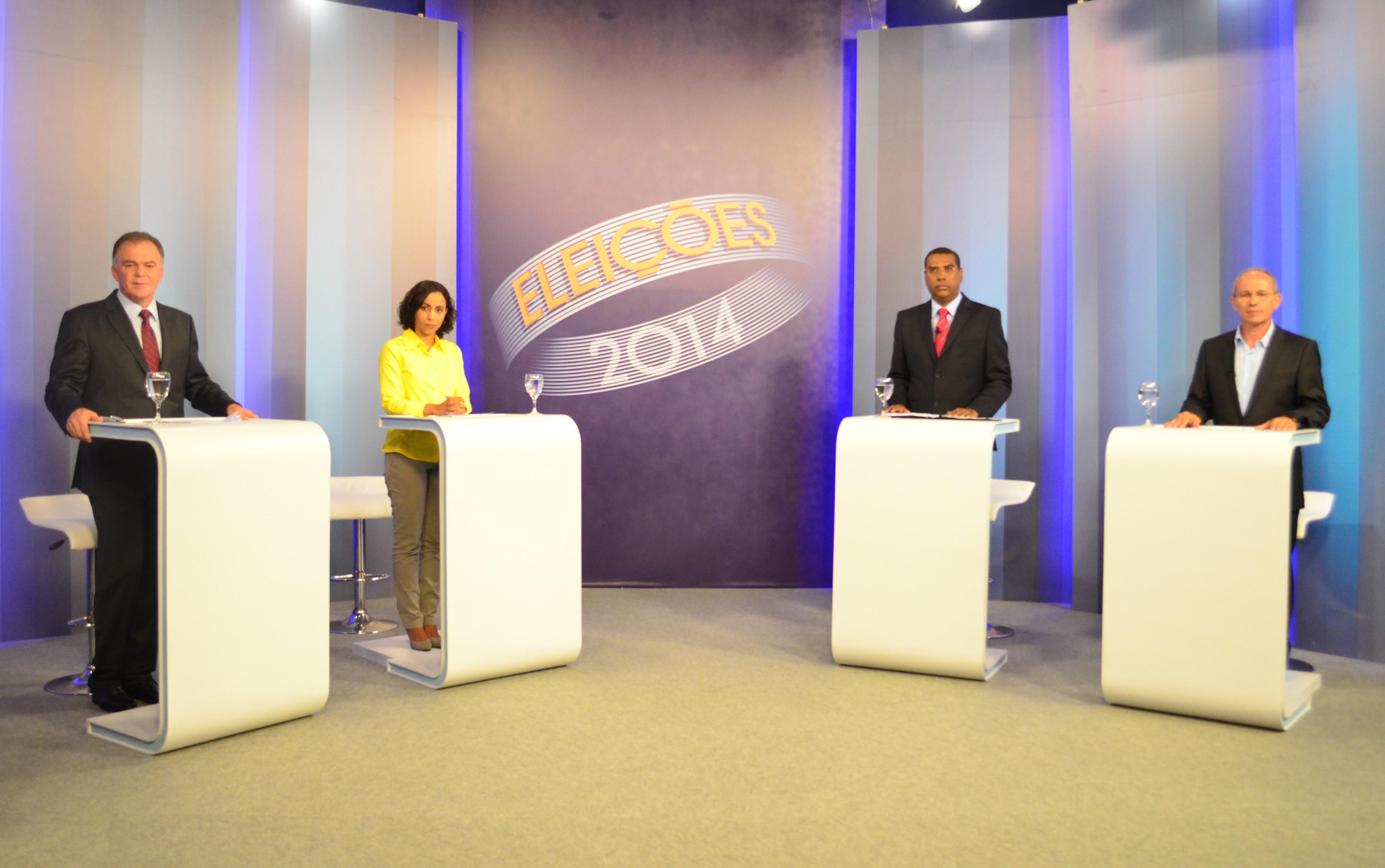 Debate eleições 2014 (Foto: Reprodução/ TV Gazeta)