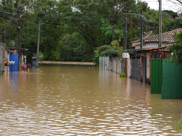 40 famílias ficaram desalojadas com enchente de Rafard (Foto: Divulgação/Prefeitura)