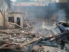 Incêndio destrói galpão de empresa em Coronel Fabriciano, MG