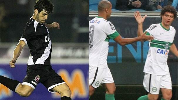 Vasco quer subir na tabela e Coxa busca a liderança do Campeonato Brasileiro (Foto: Marcelo Sadio / Flickr do Vasco / Raphael Brauhardt / Site Oficial do Coritiba)