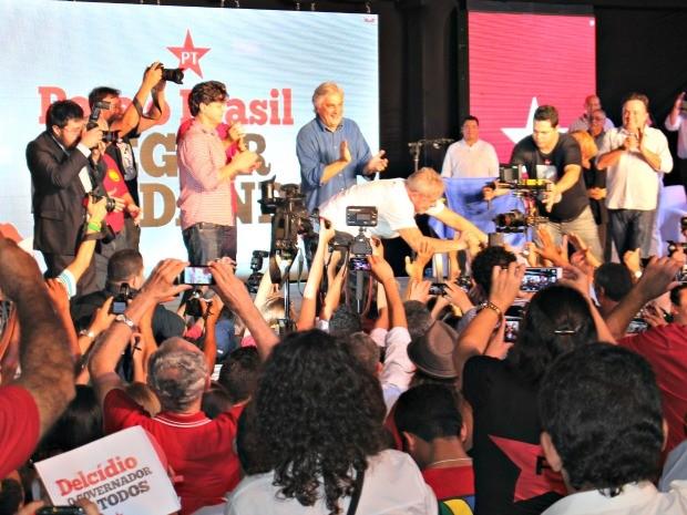 Convenção PT em MS (Foto: Tatiane Queiroz/ G1 MS)
